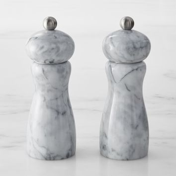 Marble Salt & Pepper Mills