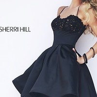 Short Spaghetti Strap A-Line Dress with Pockets by Sherri Hill