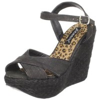 Gomax Women`s Drive In-02 Espadrille,Black,6.5 M US