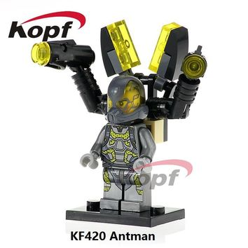 Super Heroes Single Sale KF420 Antman Yellow Jacket Iron Man Deadpool Captain America Building Blocks Children Toys Gift SY295