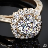 18k Rose Gold Tacori Full Bloom Halo Solitaire Engagement Ring