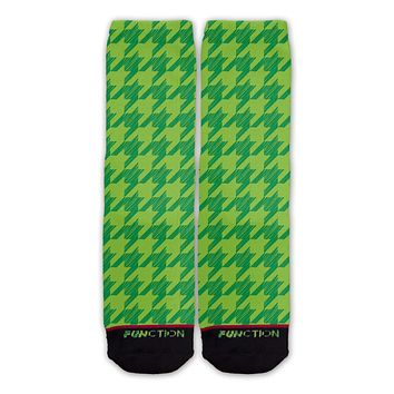 Function - St. Patrick's Houndstooth Pattern Fashion Socks