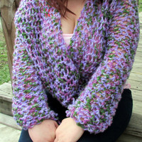 Wrap Around Sleeve Cowl, Shrug Sweater, Crop Sweater, Sleeve Scarf Shrug, Lilac Scarf with Sleeves