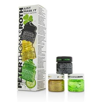 Peter Thomas Roth Just Mask It Kit: Irish Moor Mud Purifying Black Mask 15ml + 24K Gold Mask 15ml + Cucumber Gel Mask 15ml Skincare