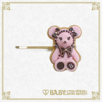Kumaku-chan's chocolate cookie hairpin / Kumya's chocolate cookie hair pin | BABY, THE STARS SHINE BRIGHT