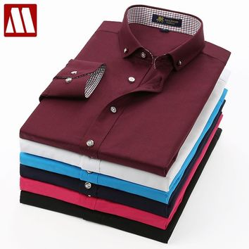 New Men's Premium Collar Button Down Casual Shirts