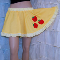 MLP Applejack Applique Yellow Circle Skirt Adult ALL Sizes - MTCoffinz