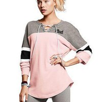PINK Victoria's secret Women Casual Tunic Shirt Top Blouse Sweatshirt