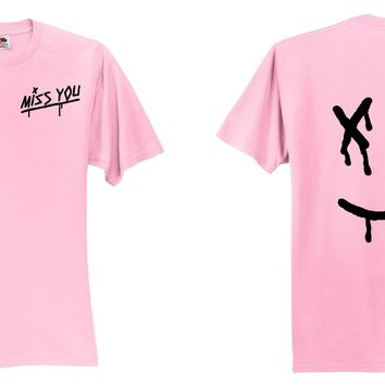"Louis Tomlinson ""Miss You / Dripping Smiley Face Logo"" T-Shirt"