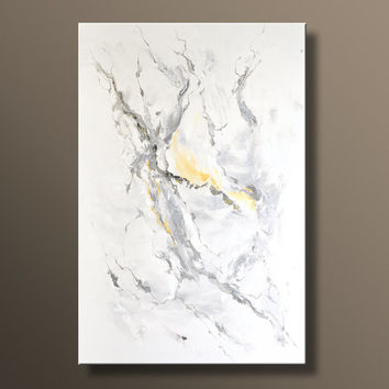 48 large original abstract black white gray yellow painting on canvas contemporary abstract modern art