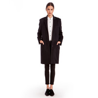 Woven Cashmere Slim Coat - Final Sale