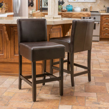 "Alcott Hill Natalie 24"" Bar Stool (Set of 2)"
