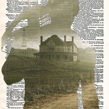 The Walking Dead Daryl Dixon Farm Dictionary Art Print
