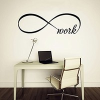 Wall Decal Vinyl Sticker Decals Art Home Decor Murals Quote Decal Infinity Symbol Wall Decal Infinity Loop Work Bedroom Home Decor Decals Vinyl Lettering V964
