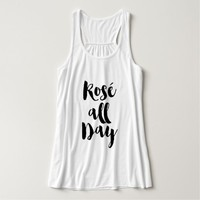 "Trendy Brush Typography ""Rosé all Day"" Tank Top"