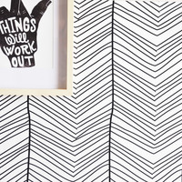 Handdrawn Chevron Removable Wall Paper