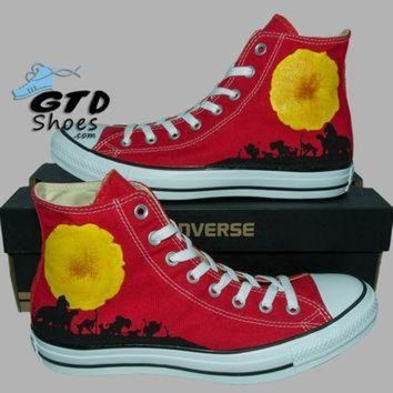 ICIKGQ8 hand painted converse hi the lion king simba mufasa timon pumbaa handpainted sho