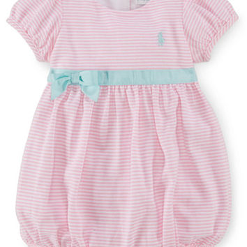Ralph Lauren Baby Girls' Empire Waist Shortall - Baby Girl (0-24 months) - Kids & Baby - Macy's