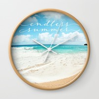 endless summer Wall Clock by sylviacookphotography