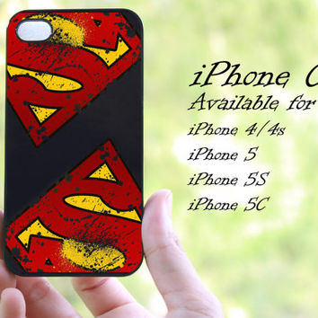 superman logo design iphone case for iphone 4 case, iphone 4s case, iphone 5 case, iphone 5s case, iphone 5c case