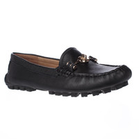 Coach Arlene Turnlock Casual Loafer Moccasins - Black