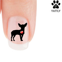 """My Heart"" Chihuahua Nail Art Decals (Now! 50% more FREE)"