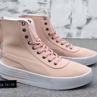 """Puma XO Parallel x The Weeknd"" Women Simple Casual Fashion Zip High Help Boots Plate Shoes Thick Bottom Sneakers"