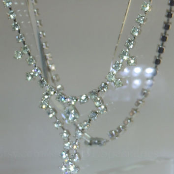 "1 DAY ONLY ""Half Price"" Vintage Jewelry Rhinestone Necklace"