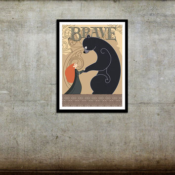 Brave Tapestry Movie Poster Disney Pixar