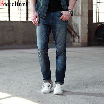 Bierelinnt 2017 Autumn & Winter New Arrival Straight Thick Line Jeans Men,Pure Cotton Good Quality Denim Men Jeans,158027