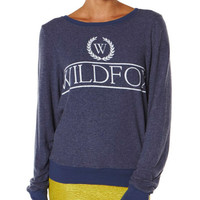 WILDFOX COUNTRY CLUB BAGGY BEACH JUMPER - DUSTY NAVY
