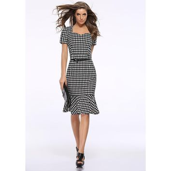 Western fashion design sexy lady slim dress