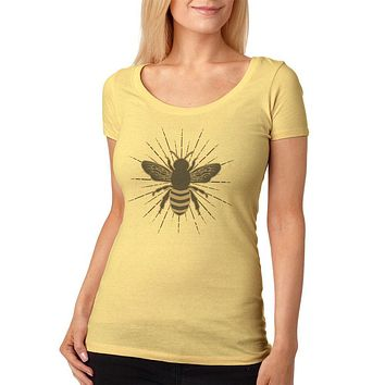 Bumble Bee Rays Womens Soft Scoop T Shirt