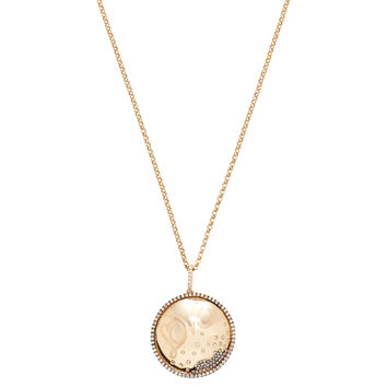 Shay Women's Pave Diamond Love Disc Pendant Necklace - Gold
