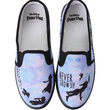 Disney Peter Pan Never Grow Up Slip-On Shoes