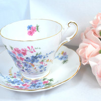 Vintage Tea Cup and Saucer Porcelain Tea Set from England