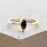 Marquis Ring - Gold with Black Stone