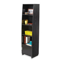 Tall 5-Tier Curved Bookcase