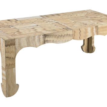 Mr & Mrs Howard, Biscayne Cocktail Table, Wood-Grain, Coffee Table Base