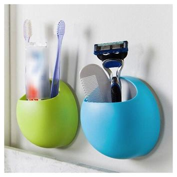 Bathroom Toothbrush Holder Suction Cups Wall Home - Garden