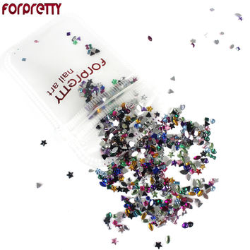 Nail Art Decorations Glitter Nails 3D Accessories Rhinestones Supplies Jewelry Decorazioni Unghie DIY Acrylic Tools Ongle Charms