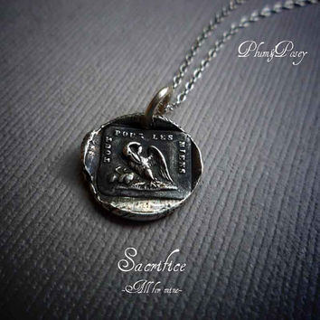 A Mothers Love Wax Seal Necklace Pelican in by PlumAndPoseyInc