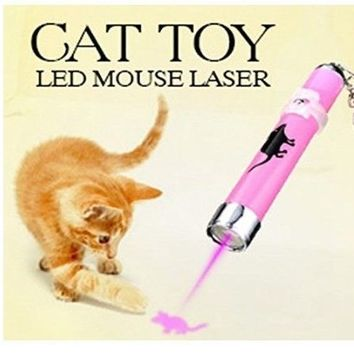 CAT TOY Interactive LED mouse Animation pattern training Flashlight Play Kitten