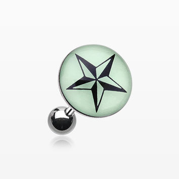 Glow in the Dark Nautical Star Cartilage Earring