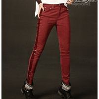 Womens Pretty Little Liars Hanna High-Waist Sequin Color Jeggings