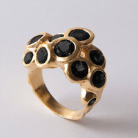 Reef - Gold and Onyx Statement Ring