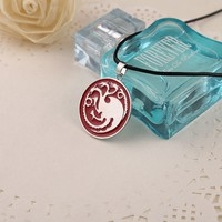 Game of Thrones Targaryen dragon necklaces pendants round A Song of Ice and Fire Badge necklaces fashion Movie jewelry 160466