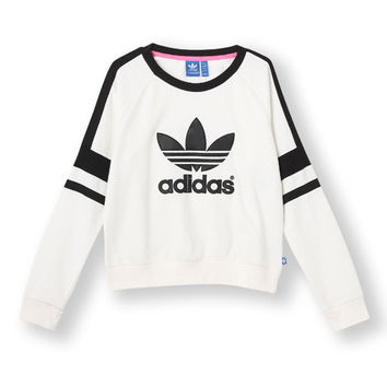 ADIDAS ORIGINALS 2014 Q3 WOMEN LOGO CREW SWEATER SHIRT M69757 White Black
