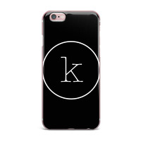 "KESS Original ""Simple Black Monogram"" iPhone Case"