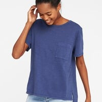 Slub-Knit Boyfriend Tee for Women | Old Navy